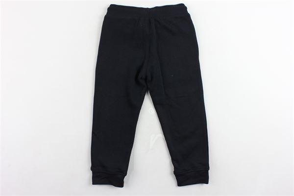 pantalone tuta felpato tinta unita con logo CHAMPION   Pantaloni   304779NERO