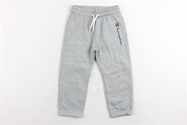 pantalone tuta felpato tinta unita con stampa CHAMPION | Pantaloni | 304853GRIGIO