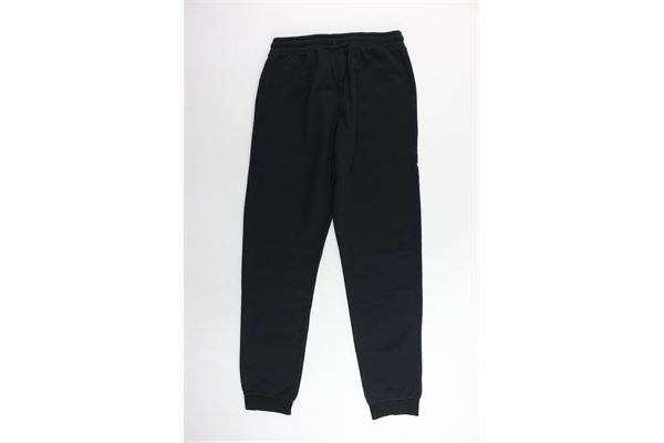pantalone tuta felpato tinta unita con stampa CHAMPION   Pantaloni   305028NERO
