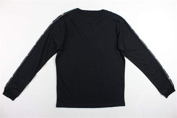 shirt manica lunga tinta unita con profili loggati CHAMPION   Shirts   305038NERO