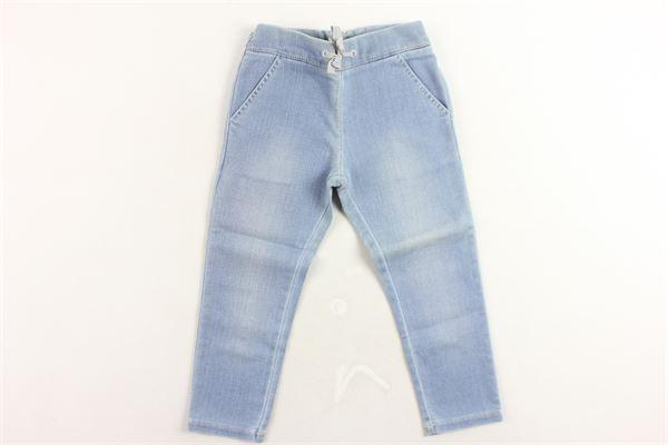 jeans tasca america tinta unita elastico in vita . CHLOE' | Jeans | C04097/Z10AZZURRO