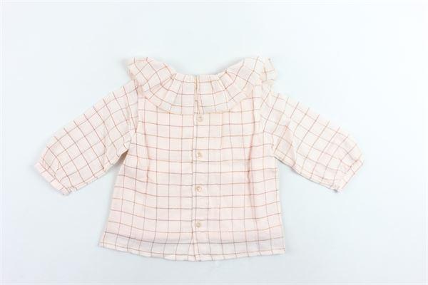 camicia manica lunga fantasia a quadri CHLOE' | Camicie | C05275/N73SALMONE