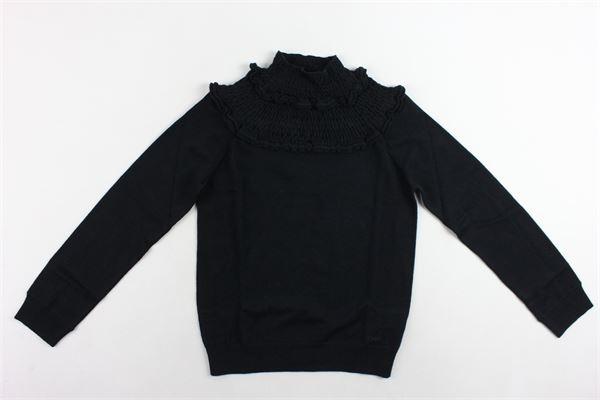 maglione tinta unita mezzo collo CHLOE' | Maglie | C15224M.1NERO