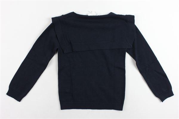 maglione manica lunga tinta unita collo a barca CHLOE' | Maglie | C15733/848BLU