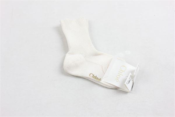 calzini corti tinta unita CHLOE' | Calzini | C90112PANNA