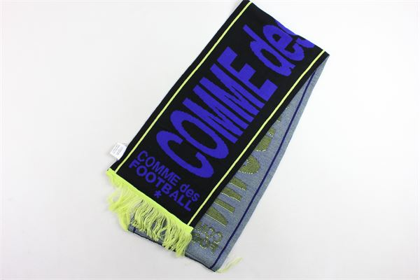 sciarpa tinta unita con stampa e profili in contrasto COMME DES FUCKDOWN | Sciarpe | CDFA223BLU