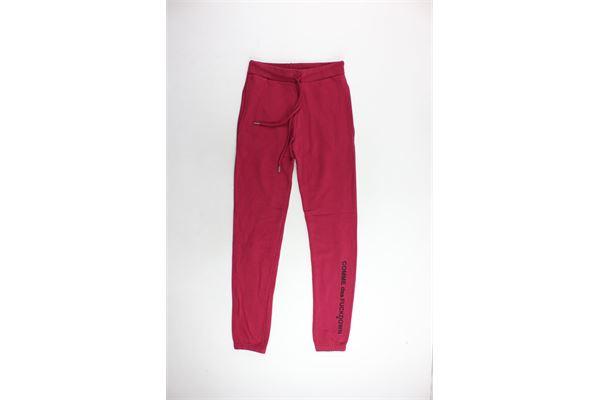 pantalone tuta felpato tinta unita con stampa COMME DES FUCKDOWN | Pantaloni | CDFD311VINACCIO