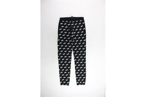 pantalone tuta felpato tinta unita con stampa COMME DES FUCKDOWN | Pantaloni | CDFD396NERO