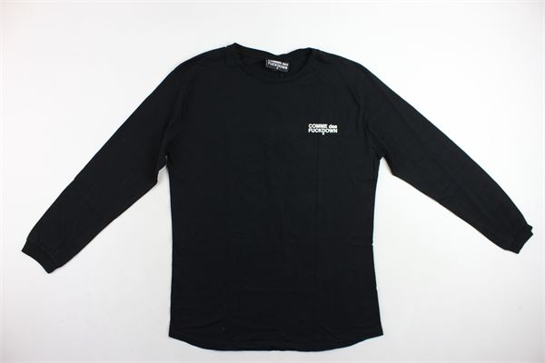 shirt manica lunga tinta unita con stampa COMME DES FUCKDOWN | Shirts | CDFU209NERO