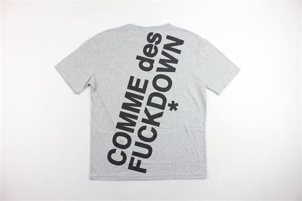 T-shirt manica lunga tinta unita con stampa COMME DES FUCKDOWN | T-shirts | CDFU210GRIGIO