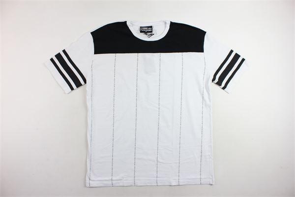 t-shirts mezza manica profili in contrasto con stampa COMME DES FUCKDOWN | T-shirts | CDFU234BIANCO