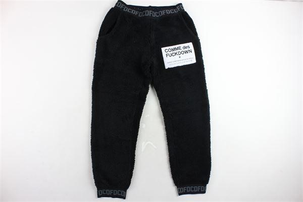 pantalone tuta modello teddy COMME DES FUCKDOWN | Pantaloni | CDFU239NERO