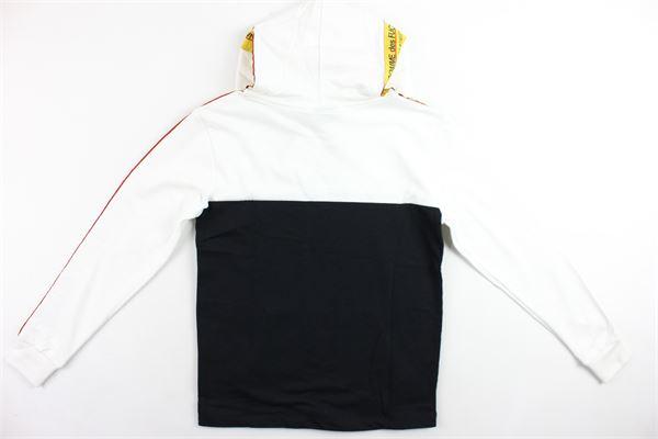 felpa con cappuccio bicolore profili loggati,tessuto felpato COMME DES FUCKDOWN   Felpe   MFCD9317BIANCO