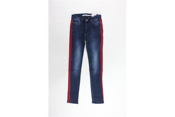 jeans 5 tasche tinta unita profili in contrasto CRUSH | Jeans | 31820108BLU