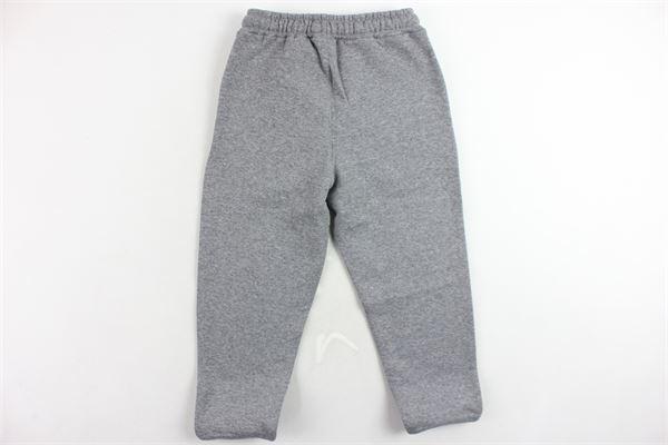 pantalone tuta felpato tinta unita con stampa DANIEL RAY | Pantaloni | FELIXGRIGIO