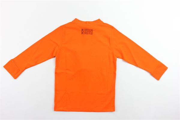 shirt manica lunga tinta in cotone con stampa DANIELE ALESSANDRINI | Shirt | 1231M0788ARANCIONE