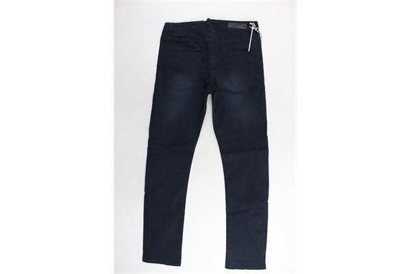 pantalone tinta unita 5 tasche con applicazione catena DANIELE ALESSANDRINI | Pantaloni | 1231P0317TBLU
