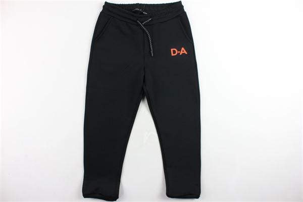 pantalone tuta,tessuto neoprene elastico in vita tinta unita con stampa in contrasto DANIELE ALESSANDRINI | Pantaloni | 1231PF0720NERO