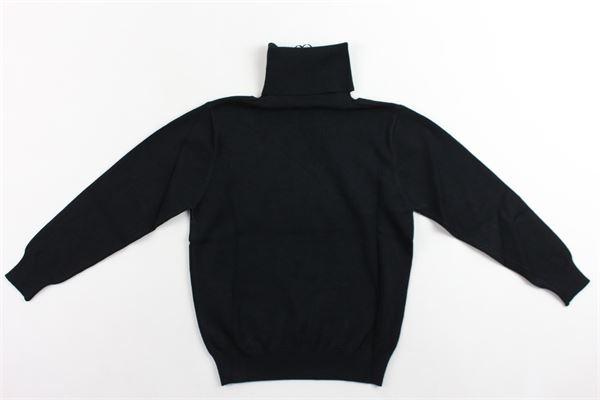 maglione collo alto tinta unita DANIELE ALESSANDRINI | Maglie | 1231W0610NERO