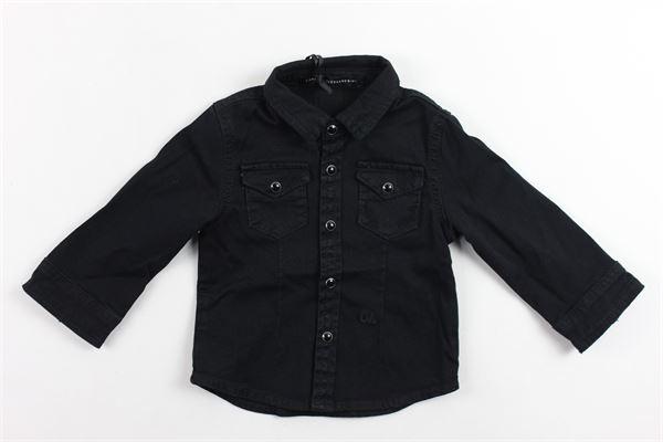 camicia in denim manica lunga tinta unita DANIELE ALESSANDRINI | Camicie | 1291CD0354NERO