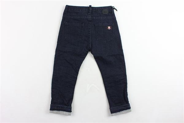 jeans 5 tasche tinta unita con zip alle ginocchia DANIELE ALESSANDRINI | Jeans | 1291D0347BLU