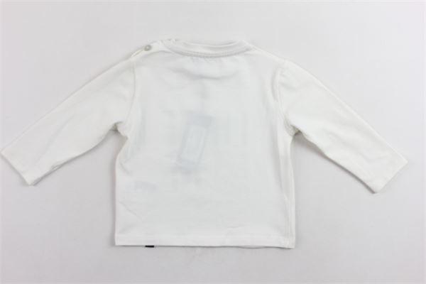 shirt manic alunga tinta unita con stampa 100%cotone DANIELE ALESSANDRINI | Shirts | 1291M0315BIANCO