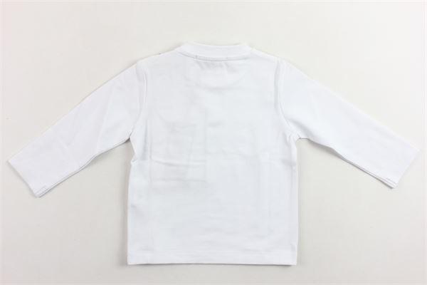 shirt manica lunga tinta unita con stampa DANIELE ALESSANDRINI | Shirts | 1291M0414BIANCO