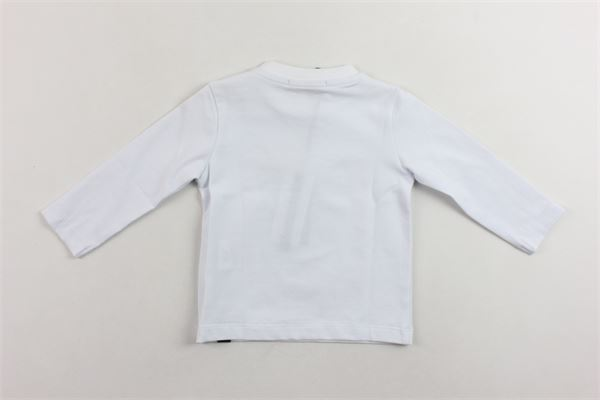 shirt manica lunga tinta unita con stampa in cotone. DANIELE ALESSANDRINI | Shirts | 1291M0415BIANCO