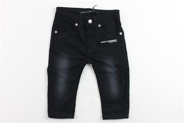 jeans 5 tasche tinta unita con stampa DANIELE ALESSANDRINI | Jeans | 1291P0343NERO