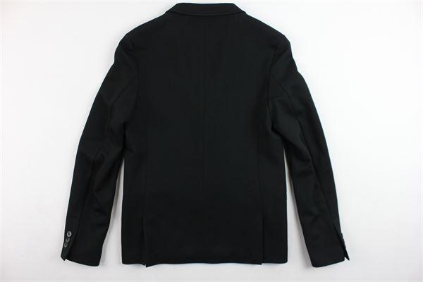 giacca tinta unita in neoprene DANIELE ALESSANDRINI | Giacche | DA31J0511TNERO