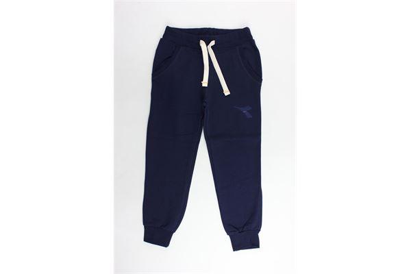 pantalone tuta felpato tinta unita con stampa DIADORA | Pantaloni | 016002BLU