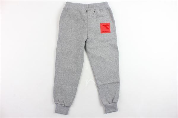 pantalone tuta felpato tinta unita con stampa DIADORA | Pantaloni | 021254GRIGIO