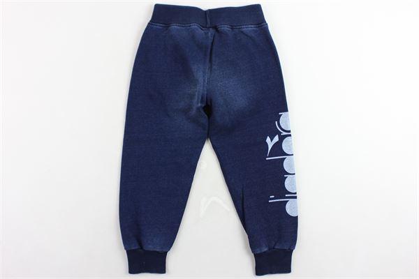 pantalone tuta garzato tinta unita DIADORA | Pantaloni | 021279BLU