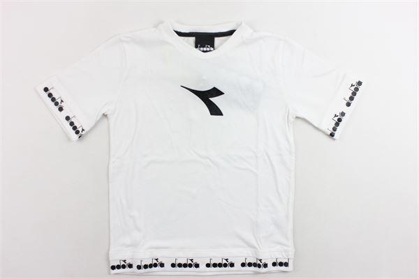 t-shirt mezza manica tinta unita con stampa DIADORA | T-shirts | 021286BIANCO