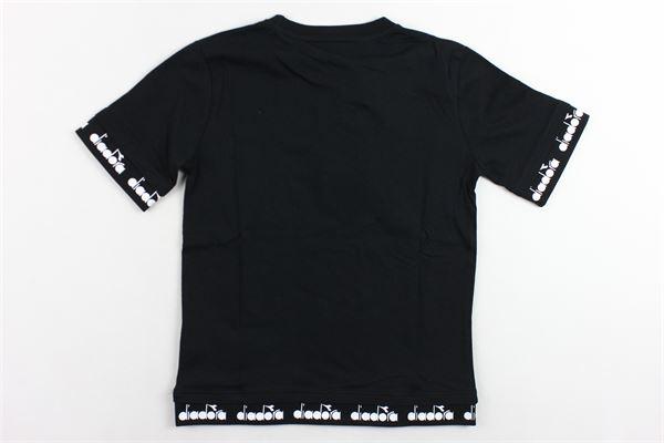 t-shirt mezza manica tinta unita con stampa DIADORA | T-shirts | 021286NERO