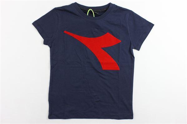 t-shirt mezza manica tinta unita con stampa DIADORA | T-shirts | 021316BLU
