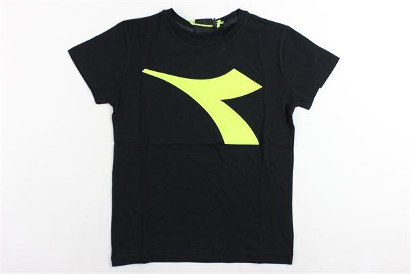 t-shirt mezza manica tinta unita con stampa DIADORA | T-shirts | 021316NERO