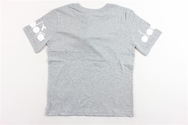 t-shirt mezza manica tinta unita con stampa DIADORA | T-shirts | 021338GRIGIO