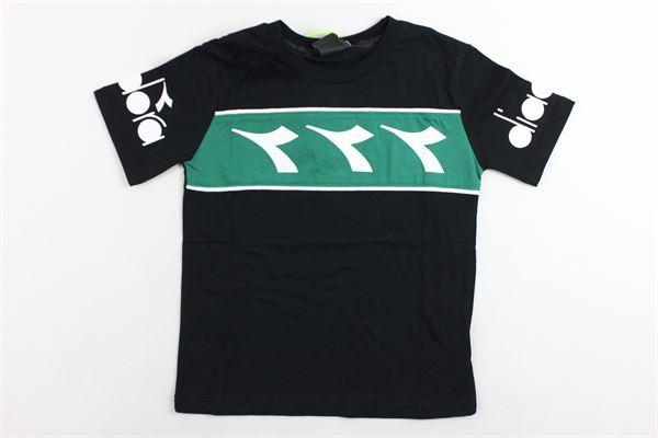 t-shirt mezza manica tinta unita con stampa DIADORA | T-shirts | 021338NERO