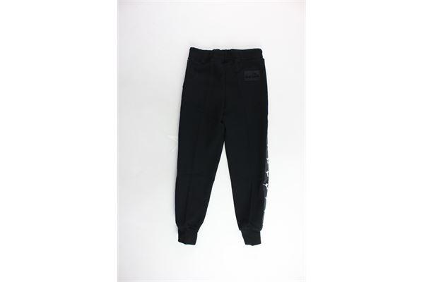 pantalone tuta garzato tinta unita con stampa DIADORA | Pantaloni | 021345NERO