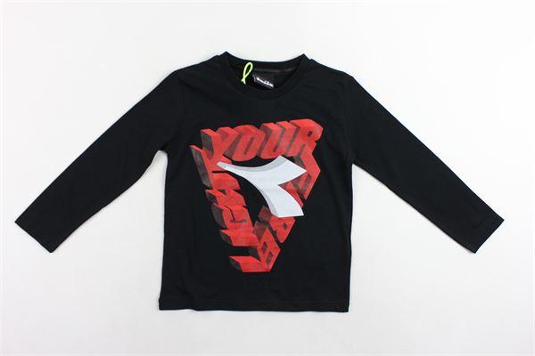 shirt manica lunga tinta unita con stampa DIADORA | Shirts | 021492NERO