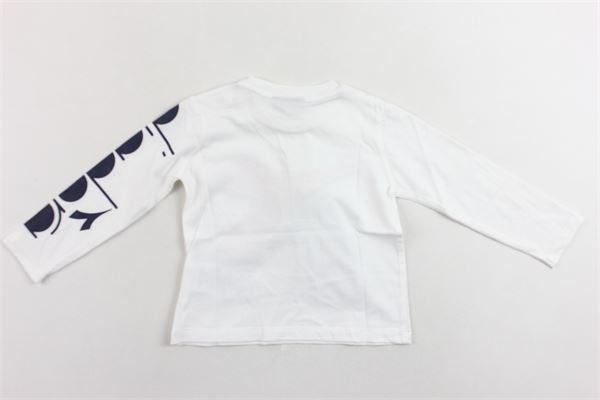 shirt manica lunga tinta unita con stampa bottoni alla spalla DIADORA | Shirts | 021497BIANCO