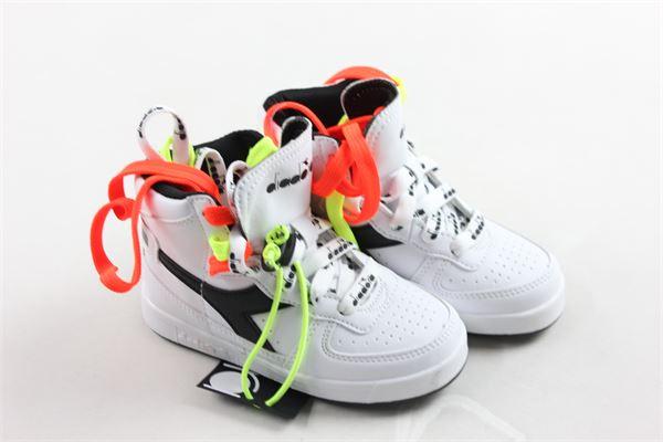 sneakers alta tinta unita con lacci fluo DIADORA | Scarpe | 021967BBIANCO