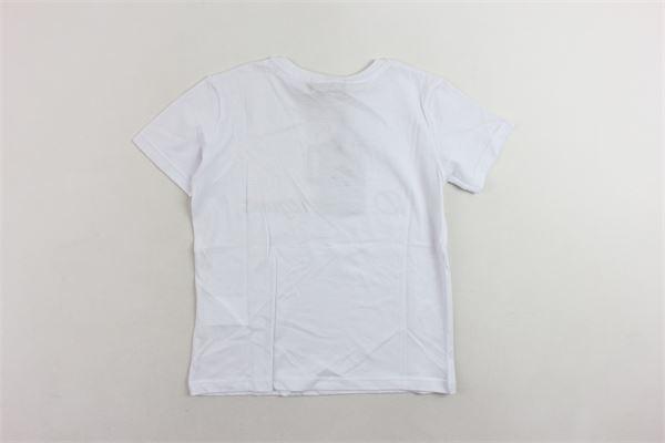 t-shirt mezza manica tinta unita con stampa DIEGO RODRIGUEZ | T-shirts | DRR101BBIANCO