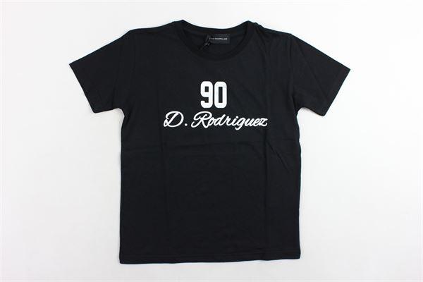 t-shirt mezza manica tinta unita con stampa DIEGO RODRIGUEZ | T-shirts | DRR101BNERO