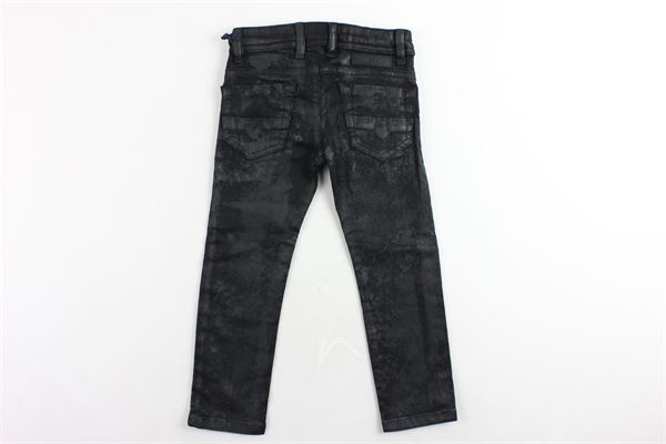pantalone 5 tasche tinta unita in ecopelle DIESEL | Pantaloni | 00J3RSNERO