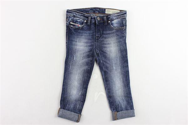 jeans 5 tasche tinta unita girovita regolabile DIESEL | Jeans | 00J3S6-KXA49-K01BLU