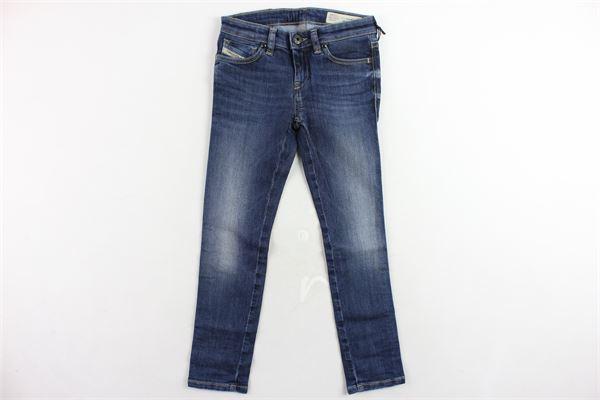 jeans 5 tasche tinta unita modello skinny DIESEL | Jeans | 00J3S6KXA19/1BLU