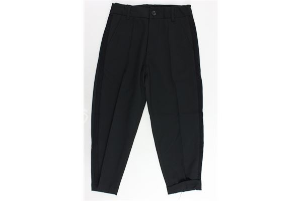 pantalone largo tinta unita girovita regolabile DIESEL | Pantaloni | 00J409-0HAEN-K900NERO