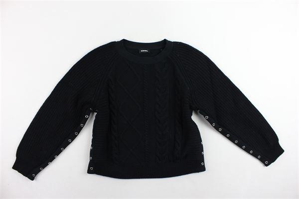 maglione girocollo tinta unita DIESEL | Maglie | 00J43B-0IAQR-K900NERO